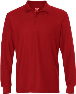 Gildan G729 DryBlend Double Pique Long-Sleeve Polo RED