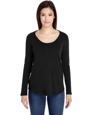 American Apparel RSA6304 Ultra Wash Long-Sleeve T- Black