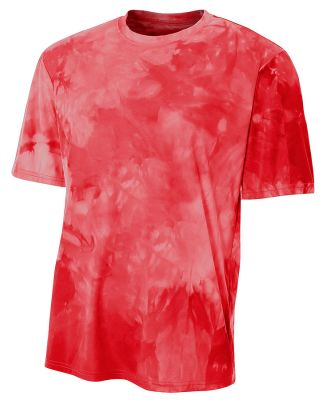 N3295 A4 Drop Ship Men's Cloud Dye T-Shirt SCARLET