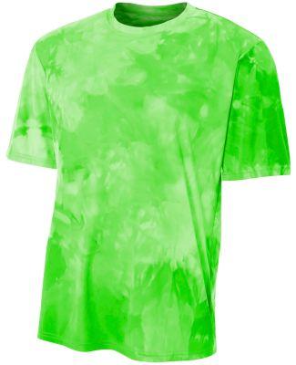 N3295 A4 Drop Ship Men's Cloud Dye T-Shirt Lime