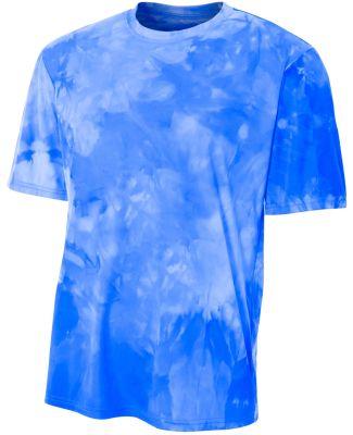 N3295 A4 Drop Ship Men's Cloud Dye T-Shirt ROYAL