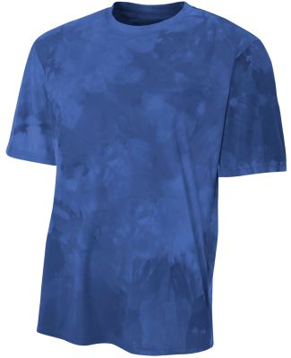 N3295 A4 Drop Ship Men's Cloud Dye T-Shirt Navy