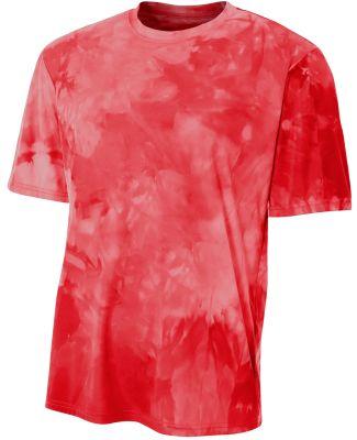 N3295 A4 Drop Ship Men's Cloud Dye T-Shirt Scarlet