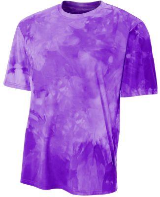 N3295 A4 Drop Ship Men's Cloud Dye T-Shirt PURPLE