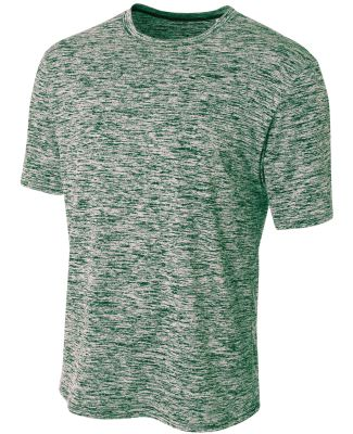 N3296 A4 Men's Space Dye Performance T-Shirt FOREST