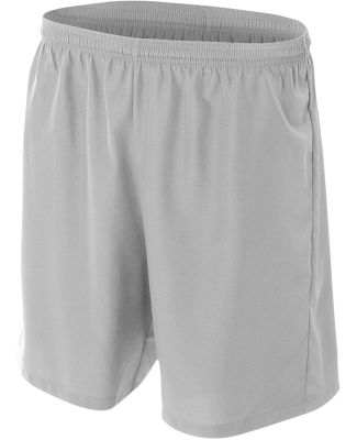 N5343 A4 Drop Ship Men's Woven Soccer Shorts Silver