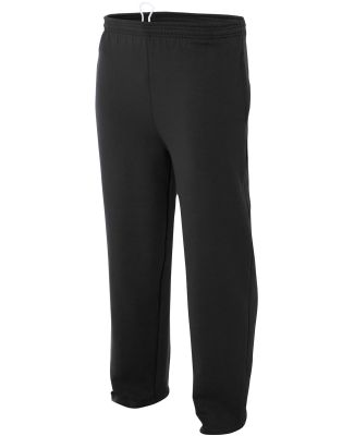 N6193 A4 Drop Ship Men's Fleece Tech Pants BLACK