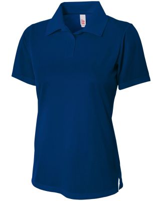 NW3265 A4 Drop Ship Ladies' Textured Polo Shirt w/ NAVY