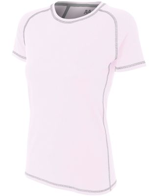 NW3275 A4 Drop Ship Ladies' Raglan Tee Shirt w/ Fl White