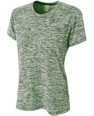 NW3296 A4 Ladies' Space Dye Tech T-Shirt Forest