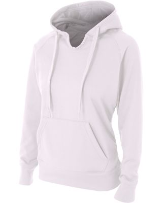 NW4245 A4 Drop Ship Ladies' Tech Fleece Hoodie White