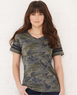 LAT 3537 Women's V-Neck Football Tee Catalog
