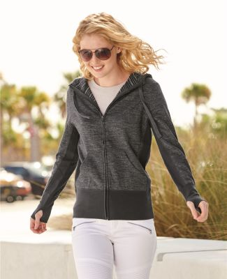 Independent Trading Co. PRM655BZ Women's Baja Stripe Terry Hoodie Catalog
