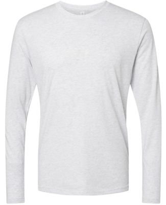 6071 Next Level Men's Triblend Long-Sleeve Crew Te HEATHER WHITE