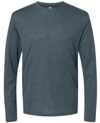 6071 Next Level Men's Triblend Long-Sleeve Crew Te INDIGO