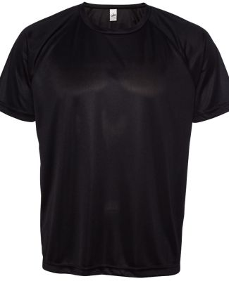All Sport M1029 Performance Baseball Raglan Tee Black
