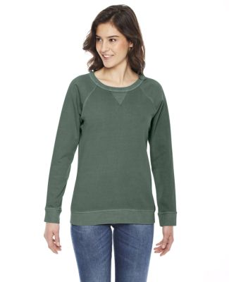 AP205W Authentic Pigment Ladies' French Terry Crew WILLOW