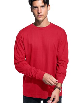 Cotton Heritage MC1182 Long Sleeve Cotton Tee Red