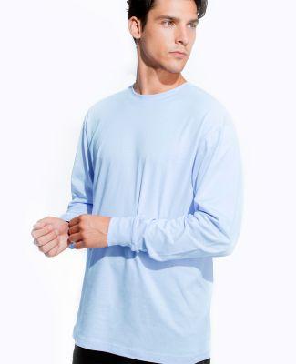 Cotton Heritage MC1182 Long Sleeve Cotton Tee Light Blue