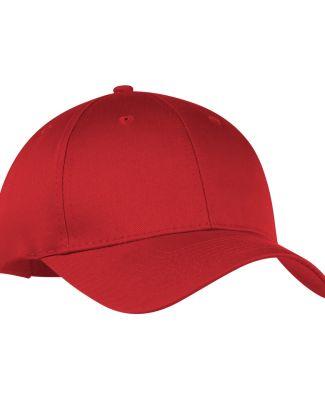 Port & Company CP80 Six-Panel Twill Cap RED