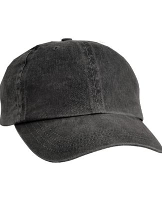 Port & Company CP84 Pigment-Dyed Dad Hat Black