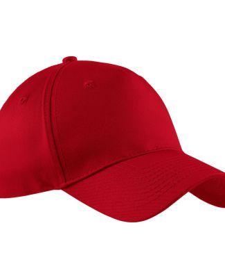 Port & Company CP86 Five-Panel Twill Cap Red