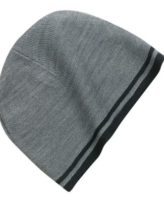 Port & Company CP93 Fine Knit Skull Cap with Strip Athletic Ox/Bk