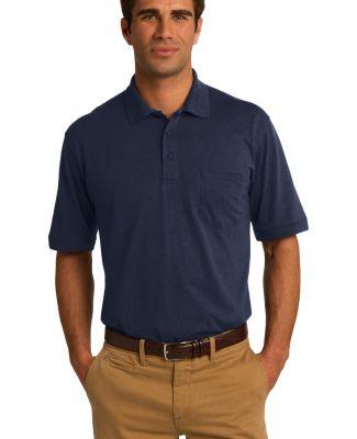 Port & Company KP55P Jersey Knit Pocket Polo Deep Navy