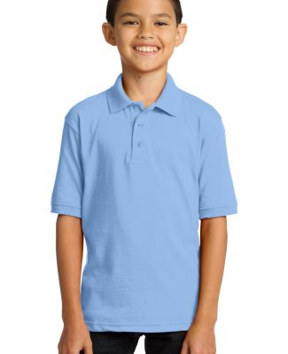 Port & Company KP55Y Youth 5.5-Ounce Jersey Knit P Light Blue