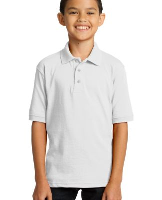 Port & Company KP55Y Youth 5.5-Ounce Jersey Knit P White
