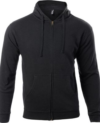 Ei-Lo 9381 Unisex Soft Fleece Zip Hoodie Black