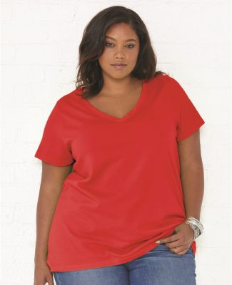LAT 3807 Curvy Collection Women's V-Neck Tee Catalog
