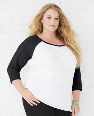 LAT 3830 Curvy Collection Women's Baseball Tee Catalog