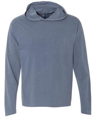 Comfort Colors 4900 Garment Dyed Hooded Long Sleev BLUE JEAN