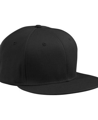 BA516 Big Accessories Flat Bill Cap BLACK