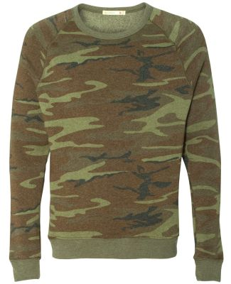 Alternative Apparel AA9575 Unisex Crew Neck Fleece CAMO