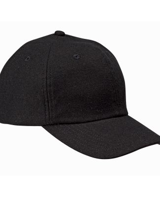 BA528 Big Accessories Wool Baseball Cap BLACK