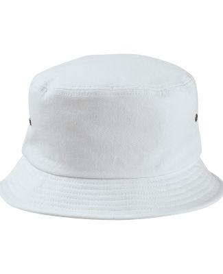 BA534 Big Accessories Metal Eyelet Bucket Cap WHITE