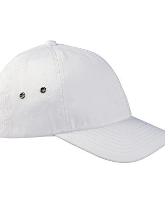 BA529 Big Accessories Washed Baseball Cap WHITE