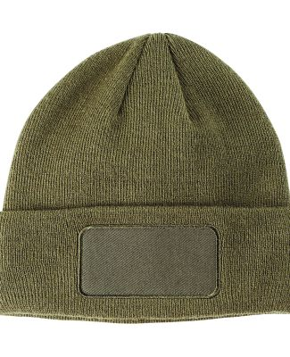 BA527 Big Accessories Patch Beanie OLIVE