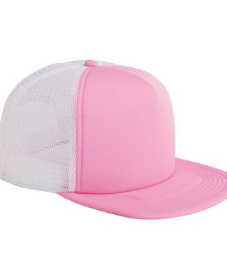 BX030 Big Accessories 5-Panel Foam Front Trucker C PINK/ WHITE
