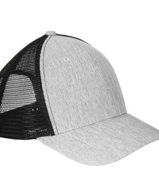 BA540 Big Accessories Sport Trucker Cap LT GREY/ BLACK