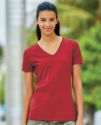 L39VR Fruit of the Loom Ladies' 5 oz., 100% Heavy Cotton HD® V-Neck T-Shirt Catalog