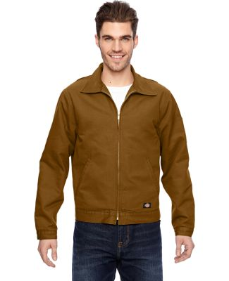 LJ539 Dickies 10 oz. Industrial Duck Jacket BROWN DUCK
