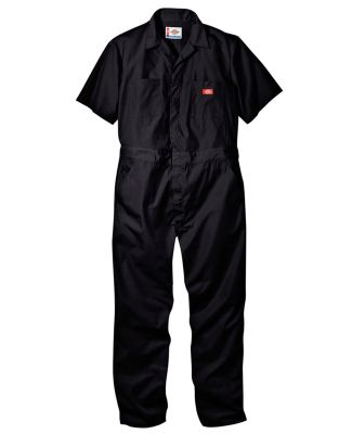 33999 Dickies 5 oz. Short Sleeve Coverall BLACK _S