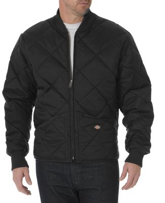 61242 Dickies 6 oz. Diamond Quilt Jacket BLACK