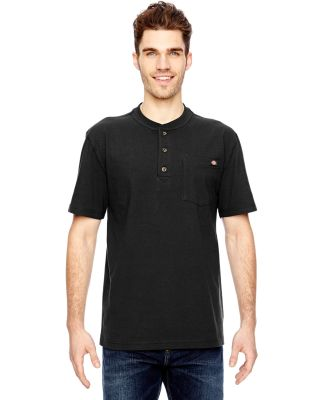 WS451 Dickies Heavyweight Work Henley BLACK