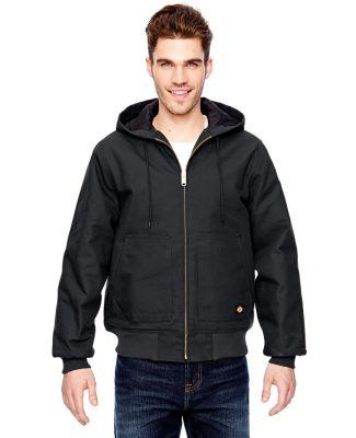 TJ718 Dickies Hooded Duck Jacket M - 6XL  BLACK