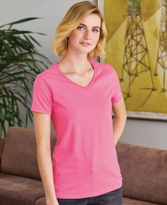 5780 Hanes® Ladies Heavyweight V-neck T-shirt - 5780  Catalog