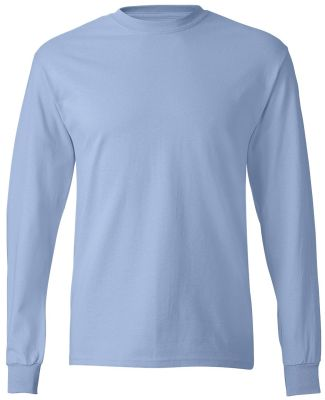 5586 Hanes® Long Sleeve Tagless 6.1 T-shirt - 558 Light Blue
